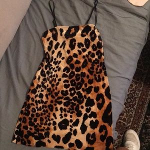 Bodycon Cheetah mini dress